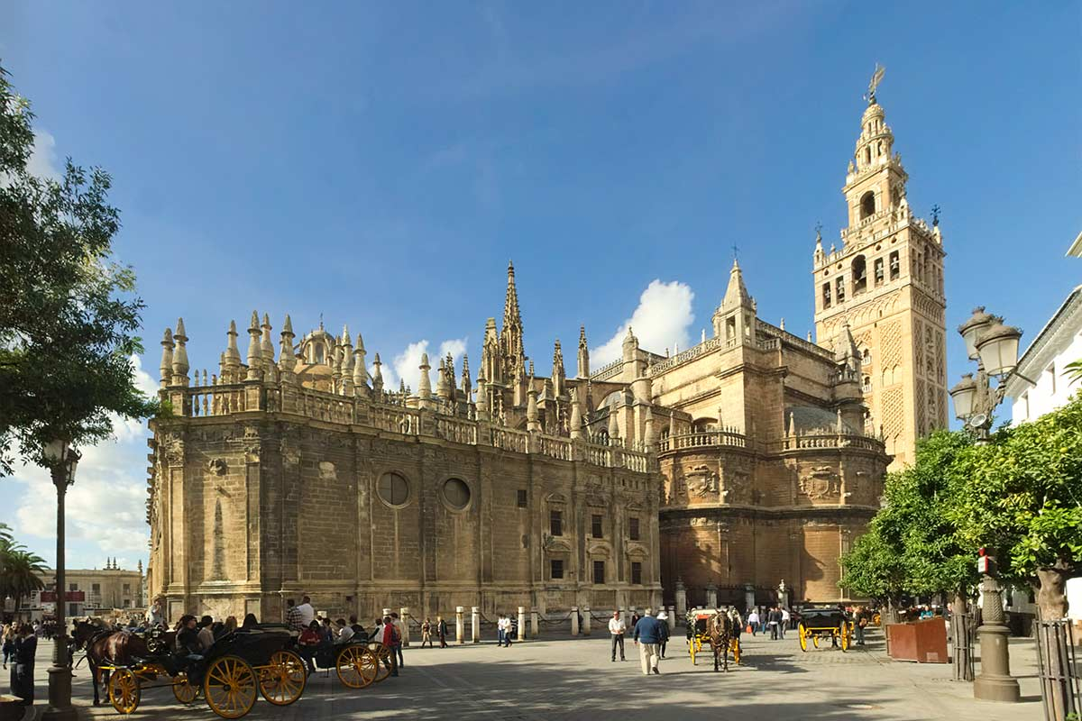 The cathedral and Giralda tower in Seville